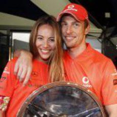 Jessica Michibata y su novio, Jenson Button