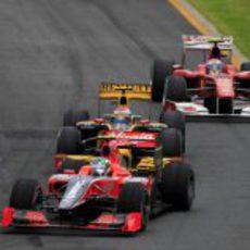 Petrov y Alonso detrás de Di Grassi