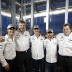 Rosberg, Brawn, Schumacher, Heidfeld y Haug