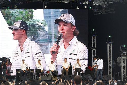 Rueda de prensa de Schumacher y Rosberg