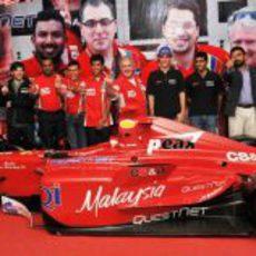 Bruno Senna y Karun Chandhok en un acto promocional