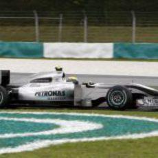 Rosberg rueda en los libres 3