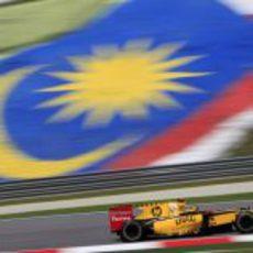 Robert Kubica en el GP de Malasia 2010