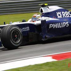 Nico Hülkenberg rueda en los libres 3 del GP de Malasia 2010
