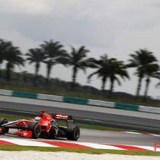 Glock rueda en los libres 3 del GP de Malasia 2010