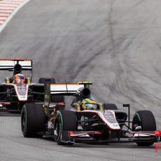 Los dos Hispania acabaron el GP de Malasia 2010