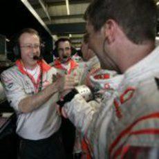 Alegría en McLaren
