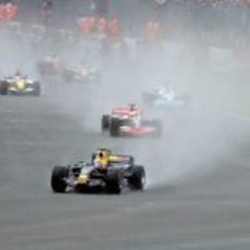 Vuelta de calentamiento en Silverstone