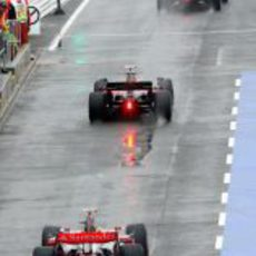 Vettel entre los dos McLaren