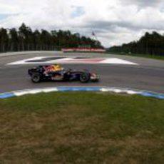 Webber en una curva