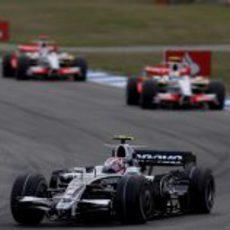 Nakajima en carrera