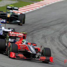 Di Grassi por delante de Barrichello y Kovalainen