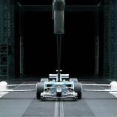 El Toyota en el túnel de viento