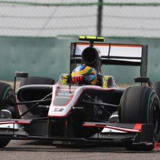Senna rueda en el GP de China 2010