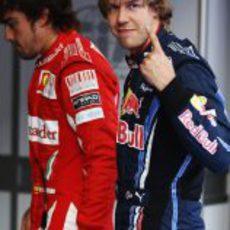 Hasta el momento, Vettel es el número uno en calificación