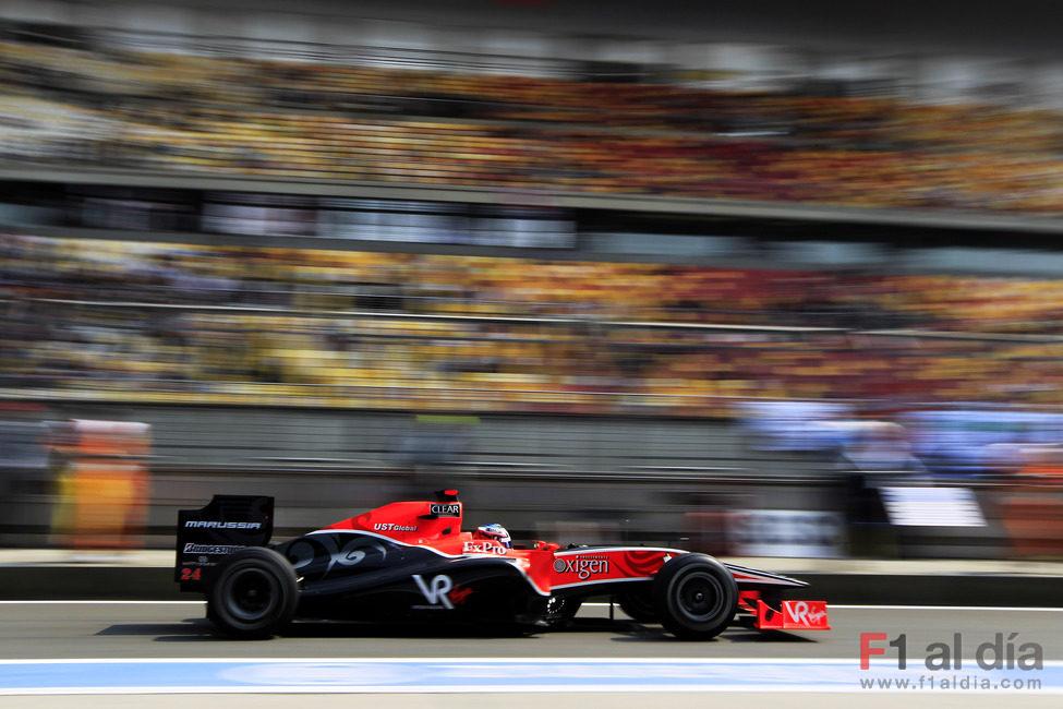 Timo Glock en la calificación del GP de China 2010