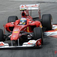 Alonso durante la remontada