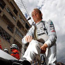 Rosberg en la parrilla