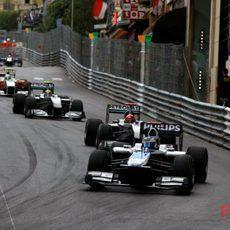 Barrichello en la pista