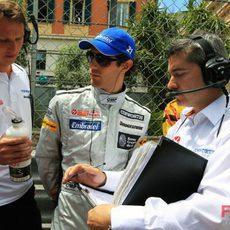 Senna en la parrilla