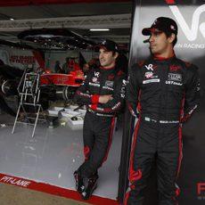 Timo y Lucas en el box de Virgin