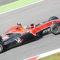 Di Grassi rueda en el Circuit de Catalunya