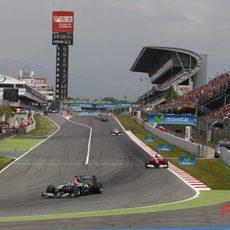 Massa persigue a Schumacher