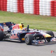 Webber no cabe en el 'cockpit' de la alegría