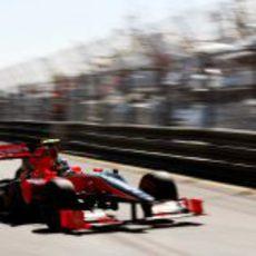 Di Grassi aprende con el F1 en MonteCarlo