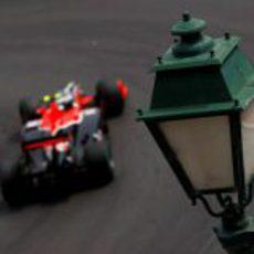 Lucas di Grassi calificó 21º en el GP de Mónaco 2010