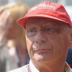 Niki Lauda en el GP de Mónaco 2010