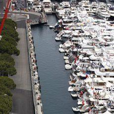 Schumacher rodeado de yates