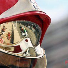 Uno de los mecánicos de Force India en Mónaco