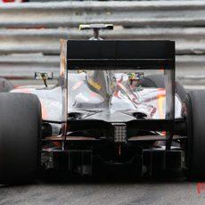 Parte trasera del coche de Senna