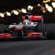 Lewis Hamilton sale el túnel de MonteCarlo