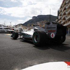 Rosberg rueda en Mónaco en 7ª posición
