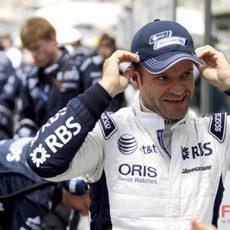 Barrichello salió 9º en una carrera que no terminó