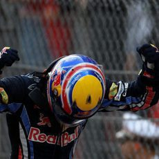 Victoria de Webber en el GP de Mónaco 2010