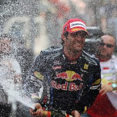 Ducha de champán para Webber