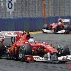 Alonso acabó la carrera 8º