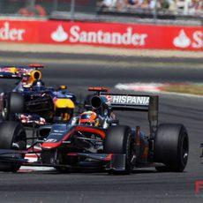 Chandhok en el GP de Gran Bretaña