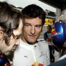 Webber y sus mecánicos