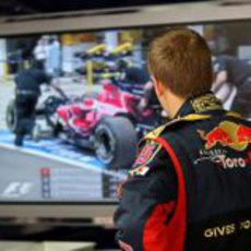 Vettel ve la tele