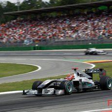 Schumacher ante su público