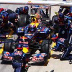 Parada en boxes para Mark Webber