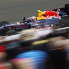 Webber no pudo batir a Vettel