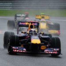 Vettel en mojado