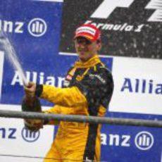 Kubica y el champán