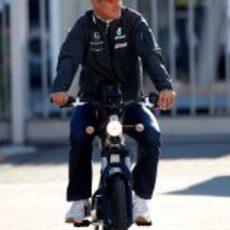 Schumacher en moto
