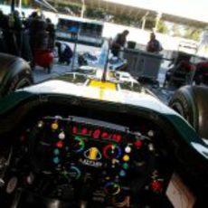 El volante del Lotus
